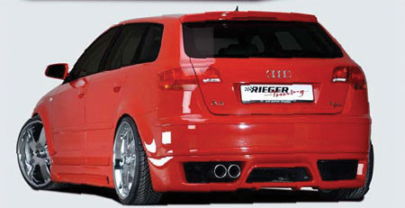 audi a3 s3 rieger body kit 05 06 07 08. Black Bedroom Furniture Sets. Home Design Ideas
