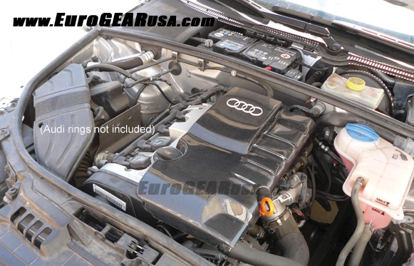 06 08 audi a4 carbon fiber engine cover b7 07 rh eurogearusa com 2004 Audi A4 Engine Diagram Audi A4 Schematic
